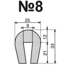 Гумовий профіль №8-U